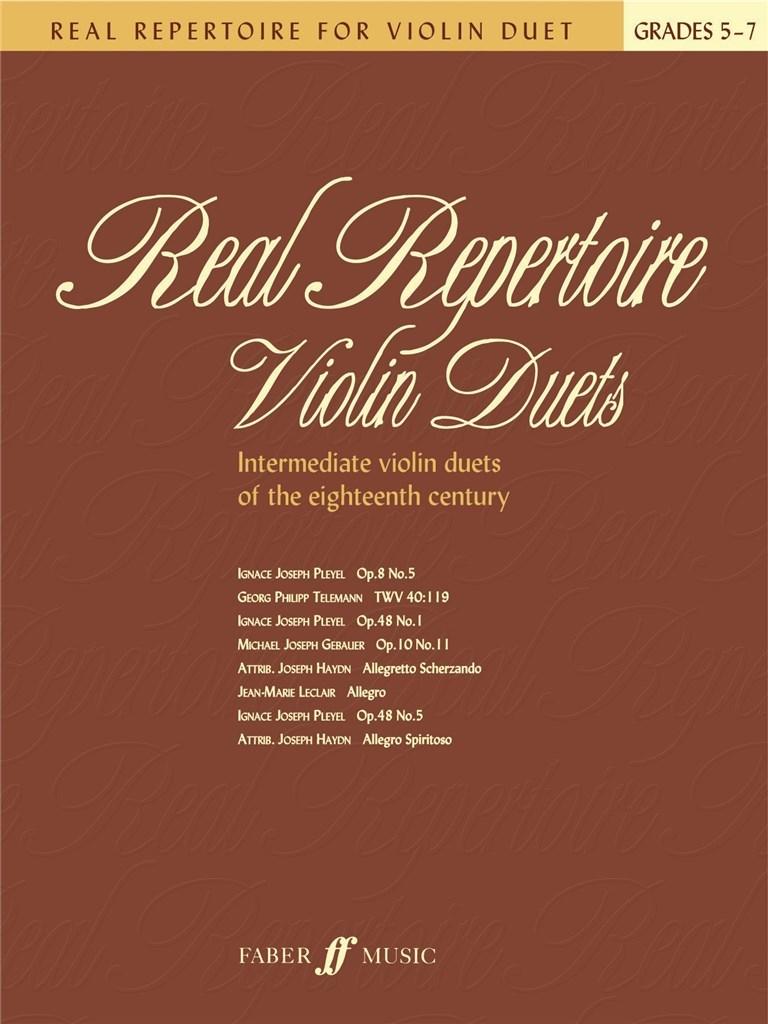 Real Repertoire Violin Duets