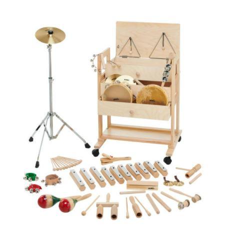 Set Instrumentos Peq Percusion Con Mueble