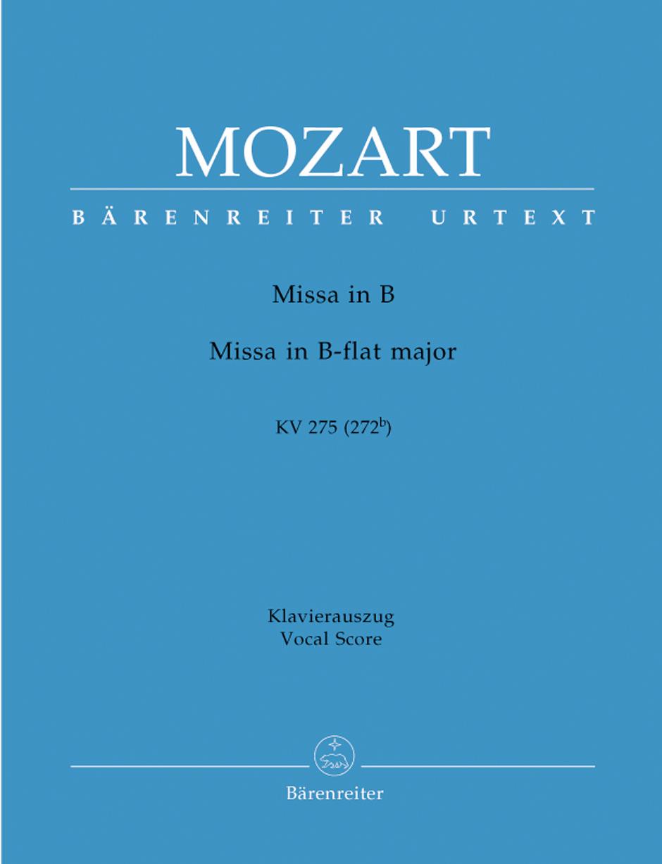 Missa brevis B flat major KV275 (272b).